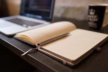 writing laptop work