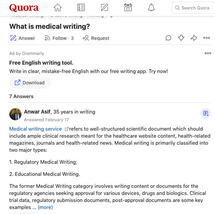 Check Quora for frequently asked questions